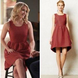 Anthro   Lili Wang Geojacquard Dress Size 2 Petite